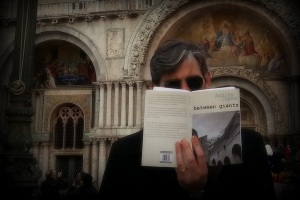Reading Ashley Capes in Piazza San Marco, Venice